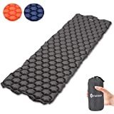 Omeneex Inflatable Sleeping Pad,Ultralight(14.5OZ) and Compact Inflatable Air Pad,Comfortable Construction for Backpacking,Hiking,Camping,Kayak & Canoe Touring