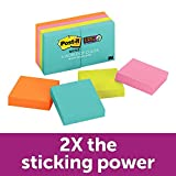 Post-it Super Sticky Notes, Miami Collection, 8 Pads, 1 7/8in x 1 7/8in