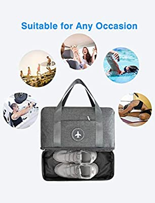SZROBOY Travel Bag,Swim Bag Sports Gym Bag with Shoes Compartment,Waterproof Gym Duffel Bag Travel Duffel Bag for Outdoor Sports/Travel,Gym,Beach Swimming and Go Hiking (Gray,Blue,Orange)