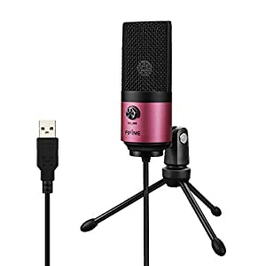 FIFINE ファイファイン USB マイク PS4 コンデンサーマイク PC Skype 通話 配信 宅録 単一指向性 音量調節可能 マイクスタンド付属 Windows Mac 対応 K669