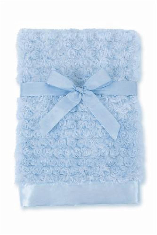 Bearington Baby - Small Swirly Snuggle Blanket (Blue) by Bearington [並行輸入品]