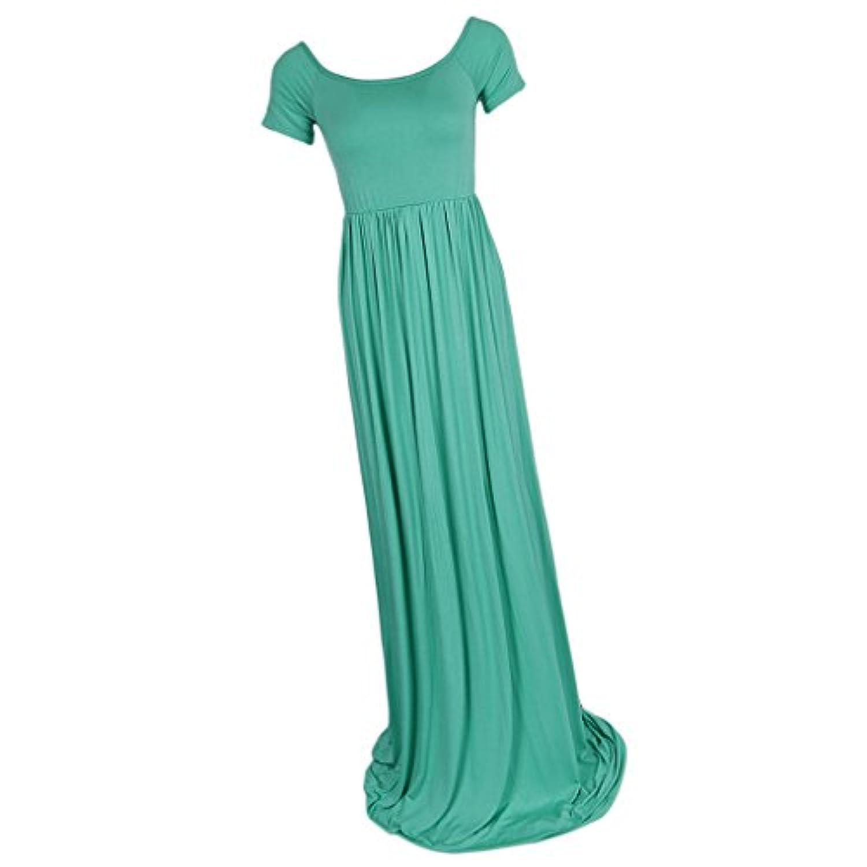 Baosity マタニティドレス ワンピース 短い袖 妊娠 写真 撮影 フォト パーティー 宴会 貴重な姿を記念に 全2サイズ3色