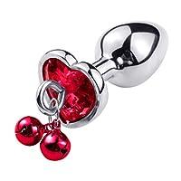 CXQ 心地よいおもちゃへの高品質の金属ベルの拡張 T-shirt (Color : Red, Size : S)
