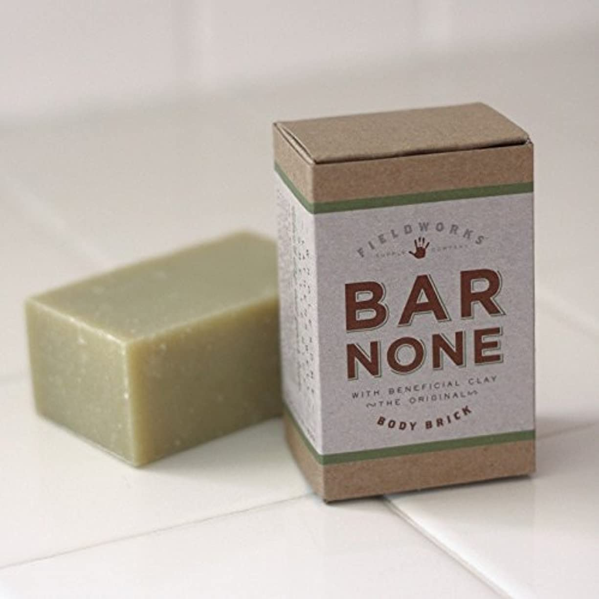 段階快適プロテスタントBar None Body and Shampoo Brick With Beneficial Bentonite Clay Mens Organic Soap by Fieldworks