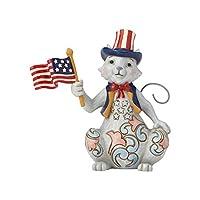ENESCO(エネスコ) Pint Size Patriotic Cat w/Flag 6001086