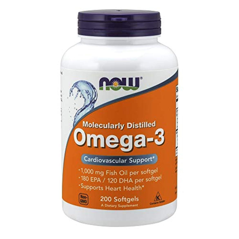 アクチュエータ質量だらしないオメガ3(EPA180mg、DHA120mg)×200ソフトジェル(ナウフーズ) 海外直送品