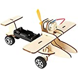 Creative Mini DIY Wind Powered Aircraft Kit Wooden Wind Powered Aircraft Kids Educational Gadget Funny Toy Student Science Experiment Toys 1set