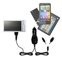 GomadicマルチポートMini DCオート/車充電器と互換性iRiver Spinn–1つ充電器with 2つのデバイスの接続を使用してアップグレード可能TipExchange
