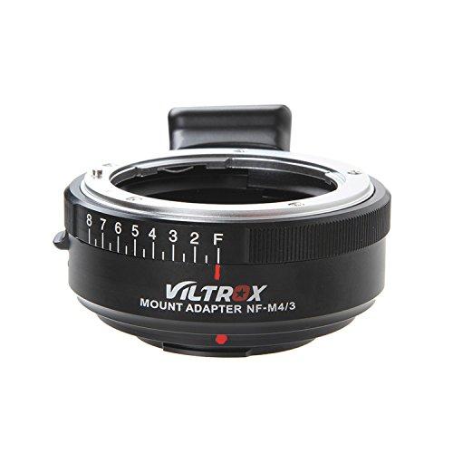 VILTROX NF-M43 マウントアダプター MF ニコン Nikon G/Dマウントレンズ→マイクロフォーサーズ M43 マウントカメラ 絞り調整可能 無限遠合焦サポート パナソニック GH5 GH4 GF9 GF8 GX8 G7 オリンパス E-M10 E-PL5 PEN-F E-PM2 E-P5