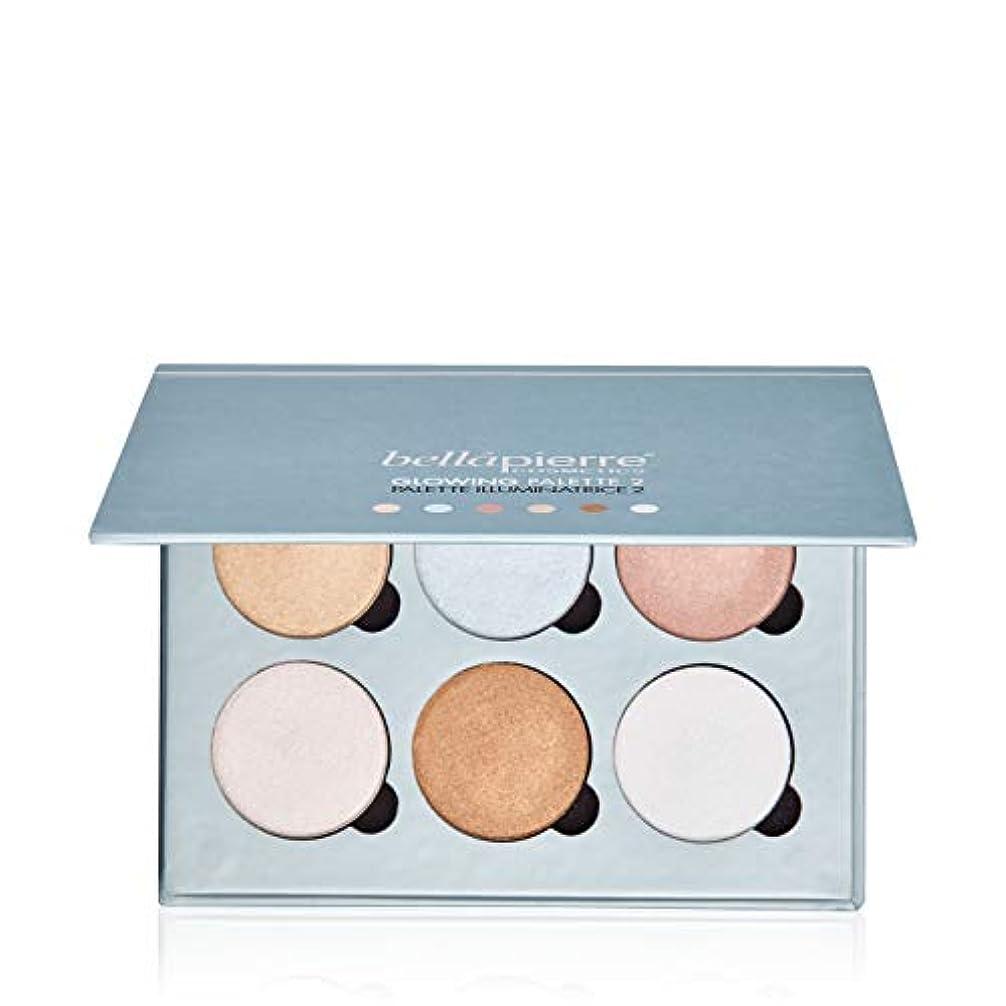 公爵保存する扱うBellapierre Cosmetics Glowing Palette 2 (6x Illuminator) 17.28g/0.6oz並行輸入品