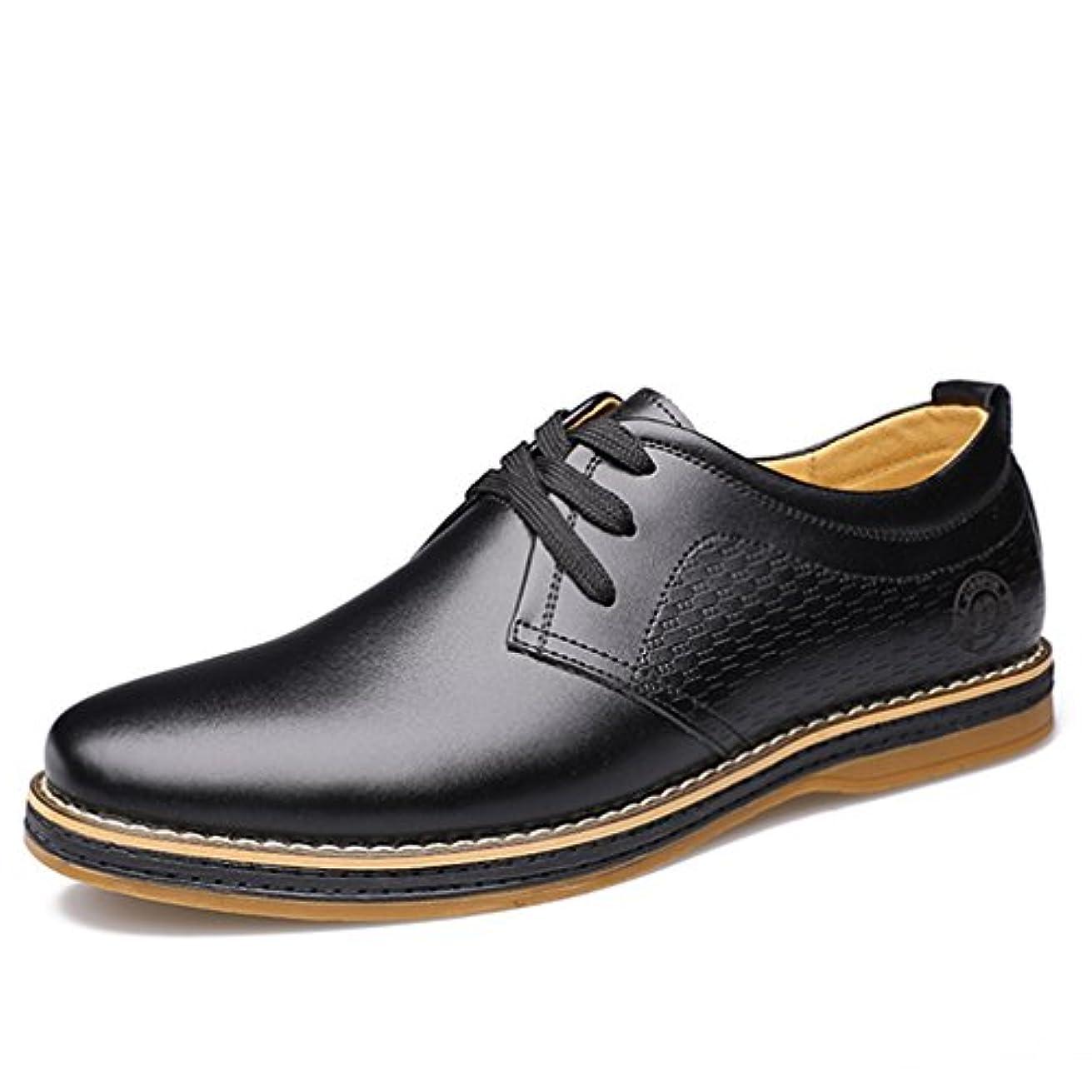不測の事態無駄にメタンビジネスシューズ 歩きやすい メンズ プレーントゥ おしゃれ シューズ 通勤 紳士靴 結婚式 快適 本革 フォーマル「イノヤ」