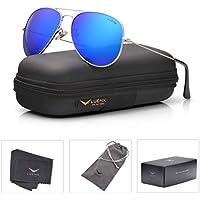 Men Aviator Sunglasses Polarized Women - UV 400 By LUENX,with case 60MM