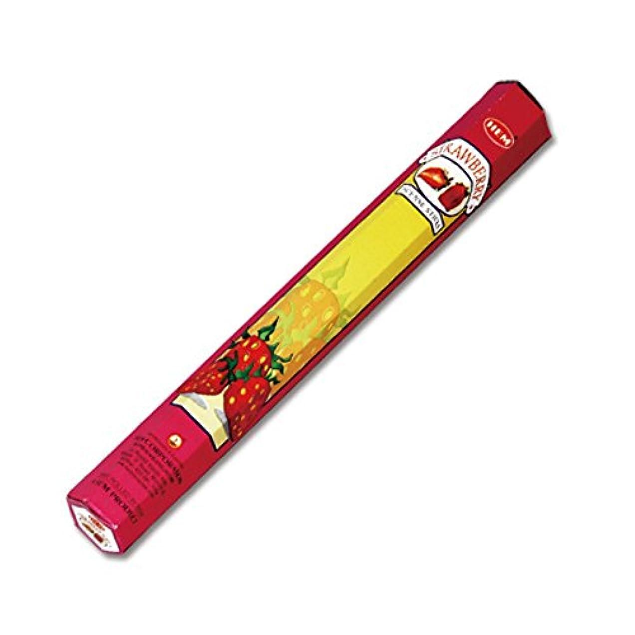 カニフェローシップ熱帯のHEM(ヘム) ストロベリー STRAWBERRY スティックタイプ お香 1筒 単品 [並行輸入品]