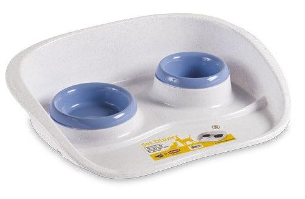 【イタリアStefanplast】イタリアステファンプラスト社製フードボウルセット セットダイナーブルー