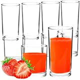 Youngever 8 Pcs Premium Quality Plastic Drinking Tumblers, Plastic Glasses, Reusable Plastic Cups, Unbreakable Glasses, Drinking Glasses (12 Ounce & 16 Ounce)