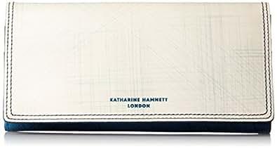 [キャサリンハムネットロンドン] 財布 国産アンティーク調レザー Taze ターゼ 長財布 490-56005 ホワイト