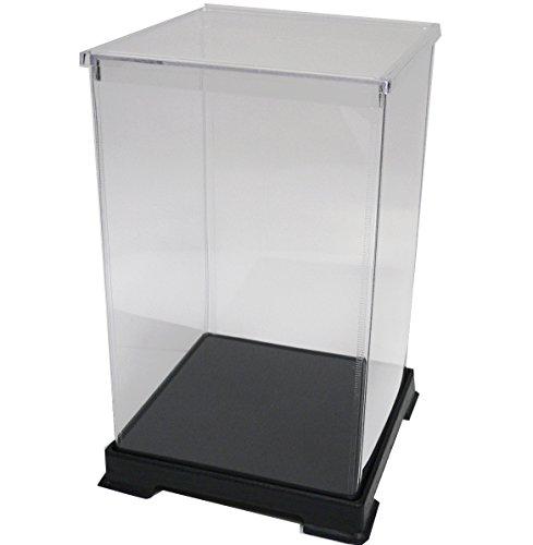 かしばこ商店 透明フィギュアケース 151524 プラスチック 組立式 W150×D150×H240mm ディスプレイケース