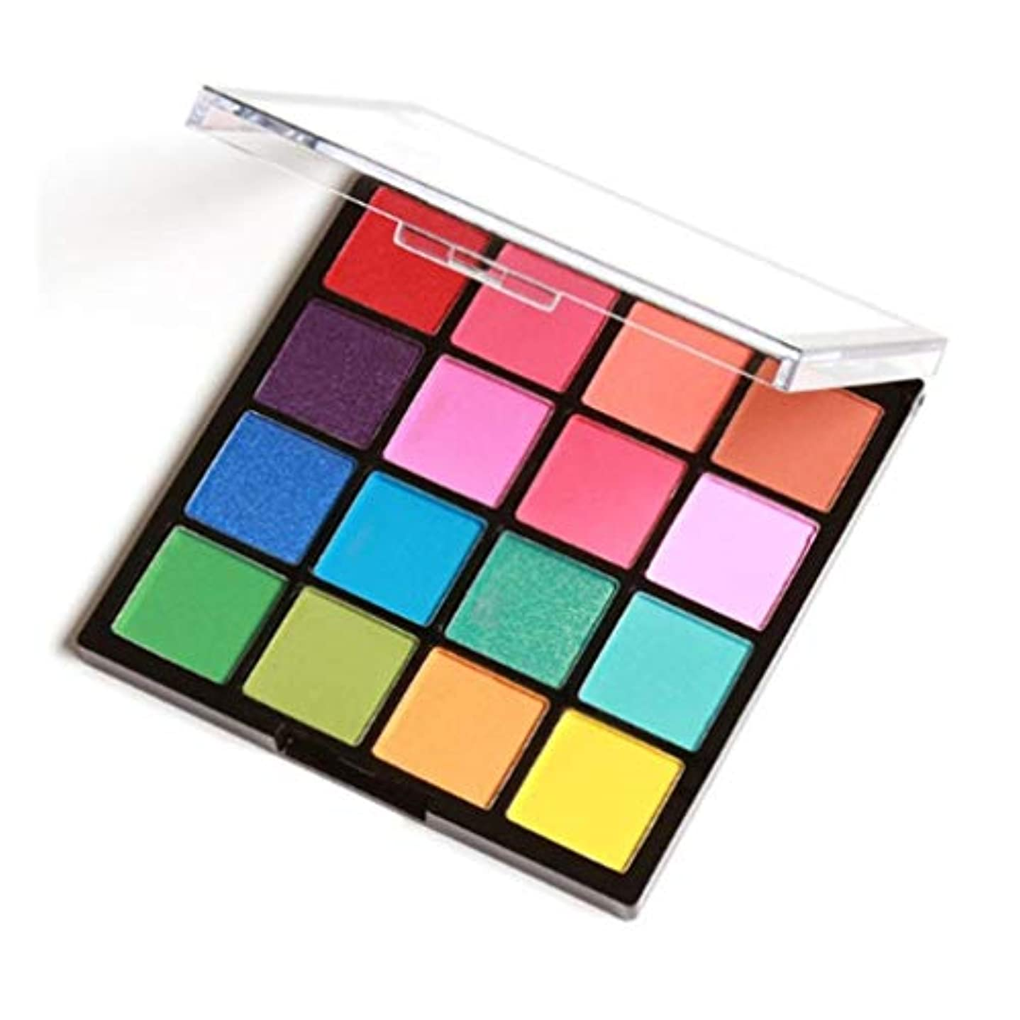 どこにでも費やす入植者16色/ SET女子プロアイメイクアップ化粧品パウダー防水ロングラスティングスモーキーアイシャドウパレットメイクアップセット