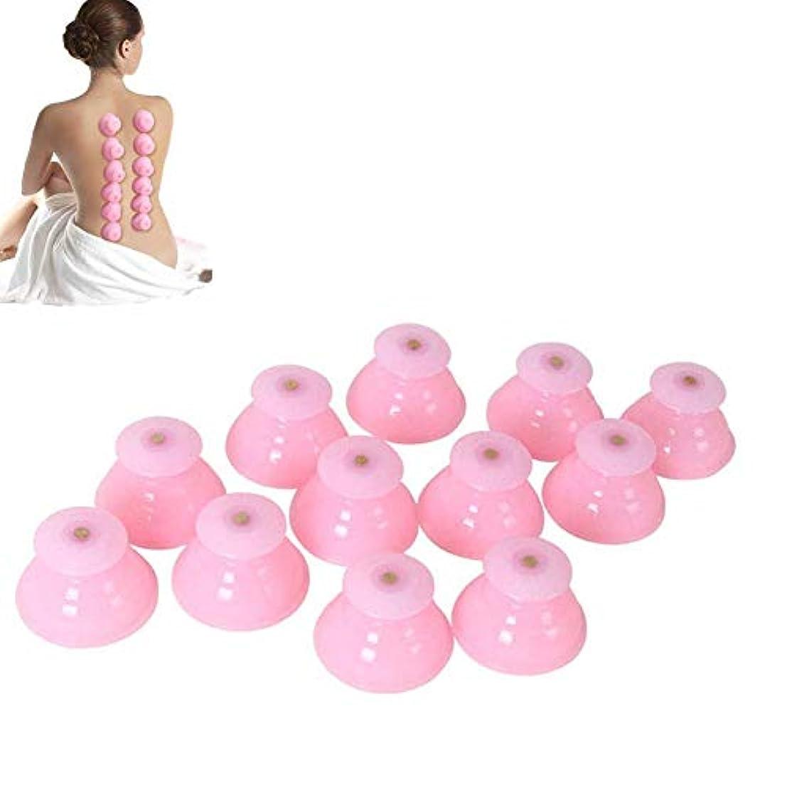おもちゃ漁師再生シリコンカッピング 12個セット シリコン製吸い玉 水洗い可能 いつでも清潔に使用できます(ピンク)