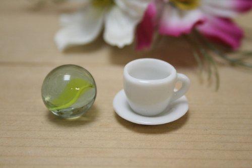 日本製 ES カップ&ソーサー ミニチュア陶器 美濃焼 陶器 ミニチュア食器 ミニチュア食器 白 ACSWEBSHOPオリジナル