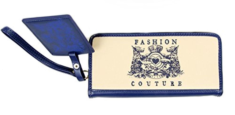 FreshGadgetz 女性用ブルードッグエンブレム長財布