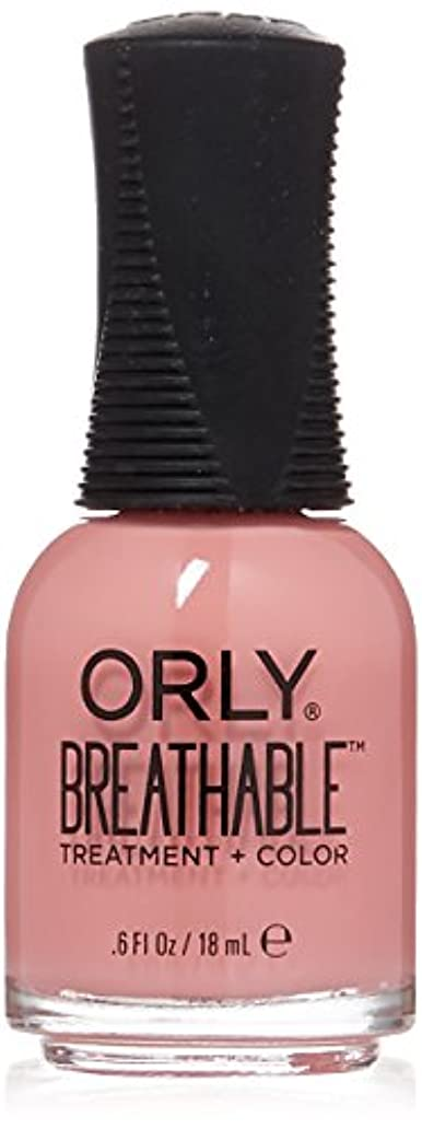 ヘルシーこする過言Orly Breathable Treatment + Color Nail Lacquer - Happy & Healthy - 0.6oz/18ml