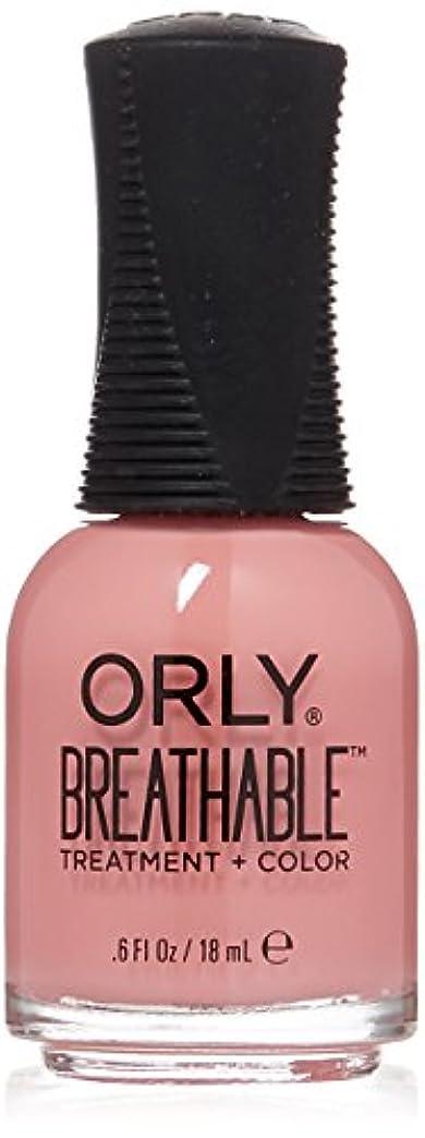 ライブ型ハンディOrly Breathable Treatment + Color Nail Lacquer - Happy & Healthy - 0.6oz/18ml
