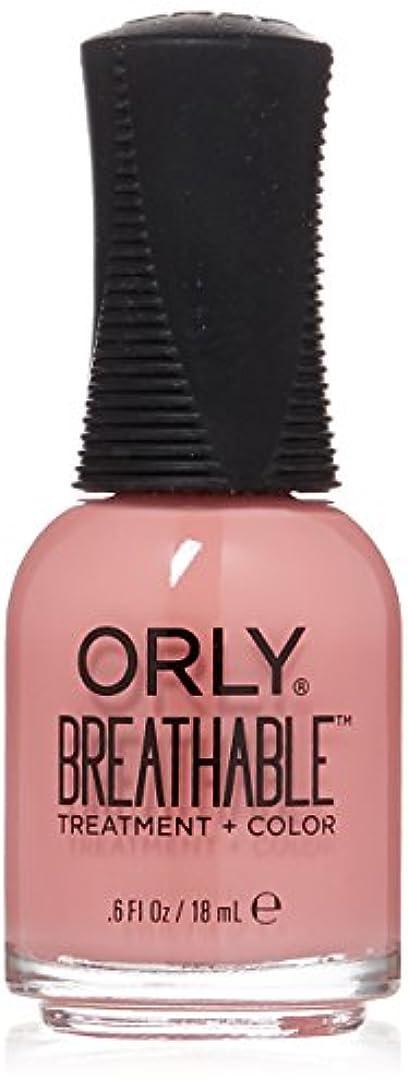 それに応じてサラミ寄託Orly Breathable Treatment + Color Nail Lacquer - Happy & Healthy - 0.6oz/18ml