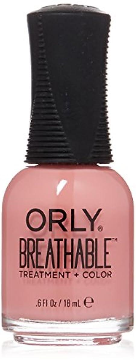 鉱夫ぼんやりした古代Orly Breathable Treatment + Color Nail Lacquer - Happy & Healthy - 0.6oz/18ml