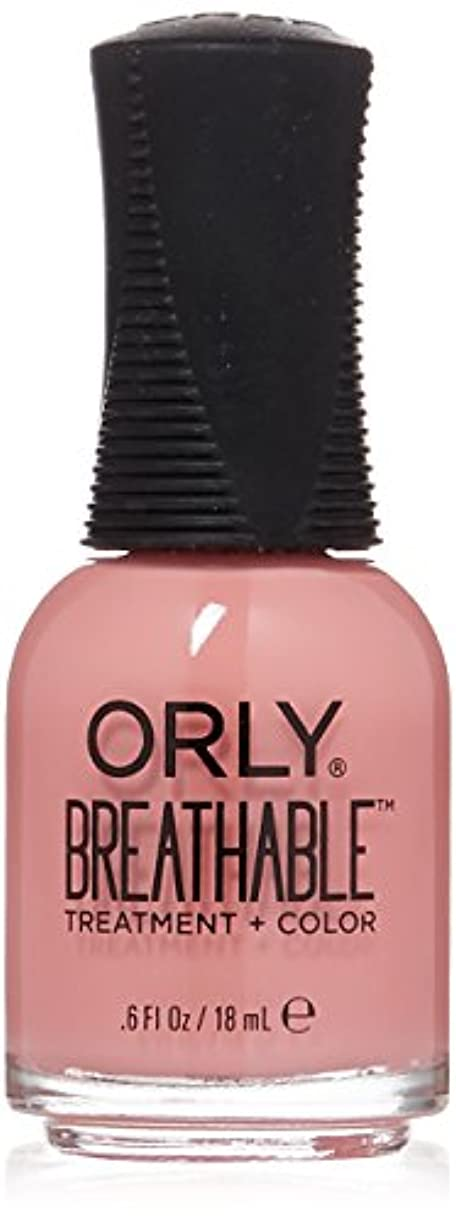 クリスチャン傑出した広告主Orly Breathable Treatment + Color Nail Lacquer - Happy & Healthy - 0.6oz/18ml