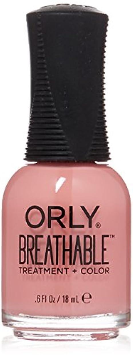 貸す安定予言するOrly Breathable Treatment + Color Nail Lacquer - Happy & Healthy - 0.6oz/18ml