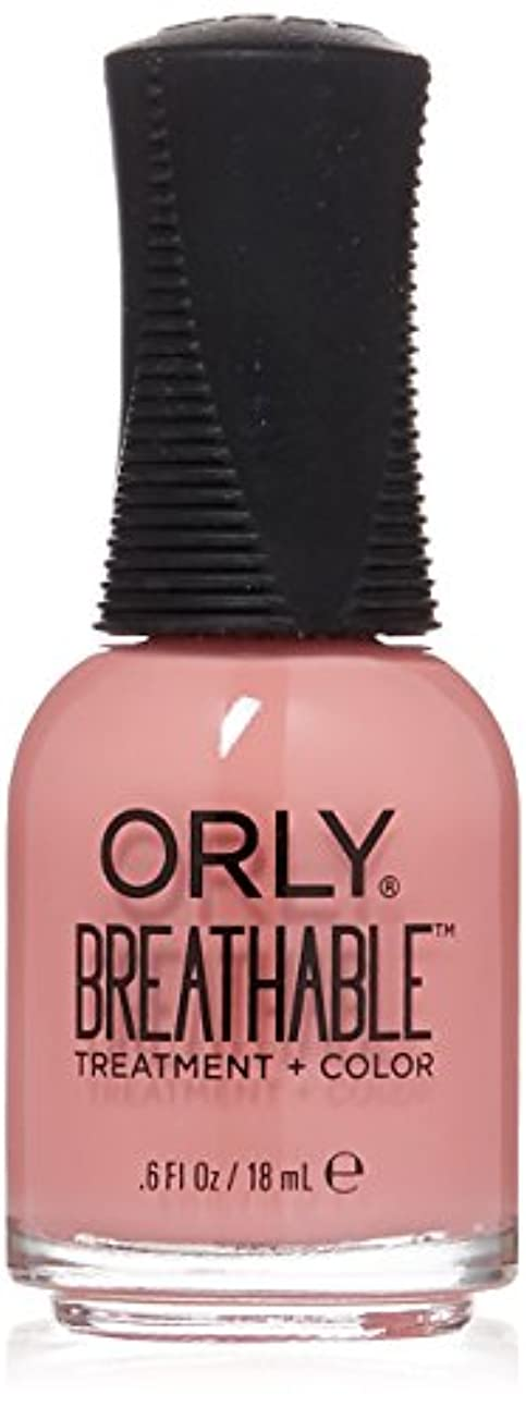 におい売り手バルブOrly Breathable Treatment + Color Nail Lacquer - Happy & Healthy - 0.6oz/18ml