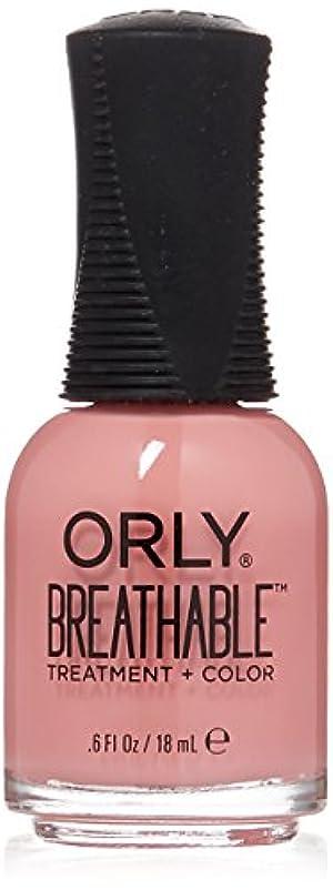 カップル極貧川Orly Breathable Treatment + Color Nail Lacquer - Happy & Healthy - 0.6oz/18ml