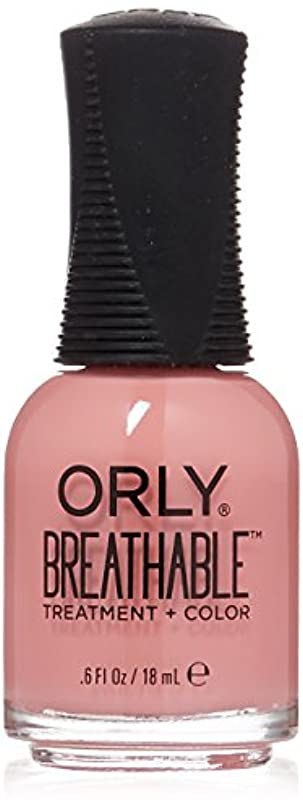 保育園ヒロイック先にOrly Breathable Treatment + Color Nail Lacquer - Happy & Healthy - 0.6oz/18ml