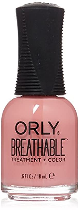 行動本質的ではない雇うOrly Breathable Treatment + Color Nail Lacquer - Happy & Healthy - 0.6oz/18ml