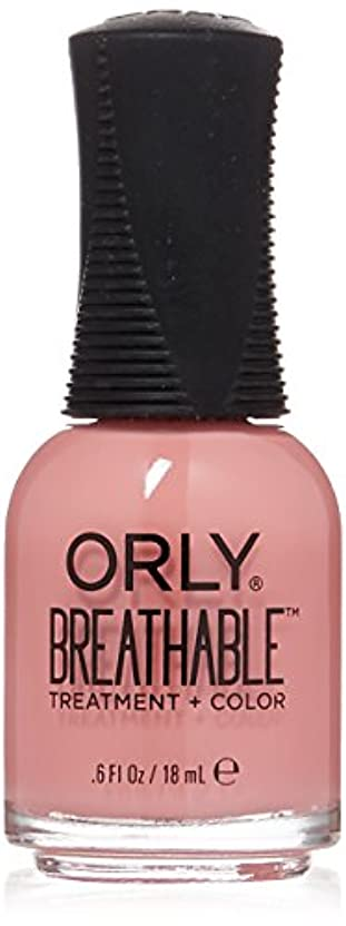 コマンド落とし穴スチュワードOrly Breathable Treatment + Color Nail Lacquer - Happy & Healthy - 0.6oz/18ml