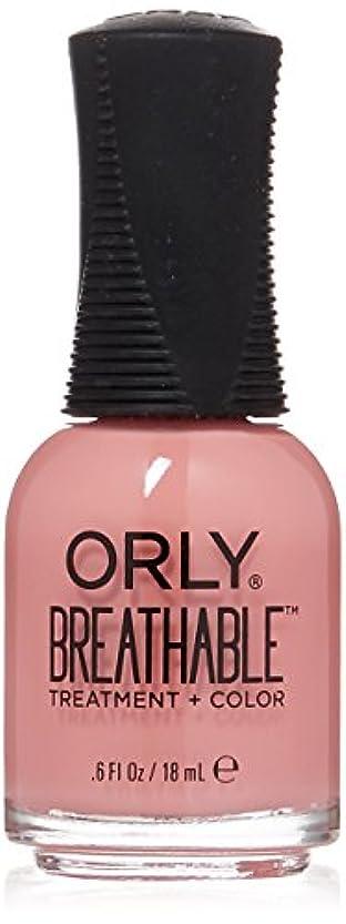 ブラザー指定する硫黄Orly Breathable Treatment + Color Nail Lacquer - Happy & Healthy - 0.6oz/18ml