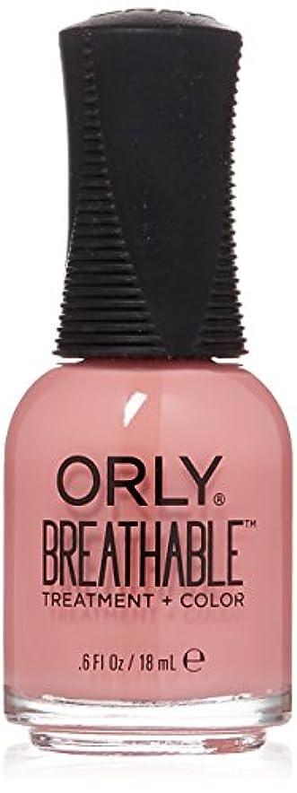 パッケージディスクミニチュアOrly Breathable Treatment + Color Nail Lacquer - Happy & Healthy - 0.6oz/18ml