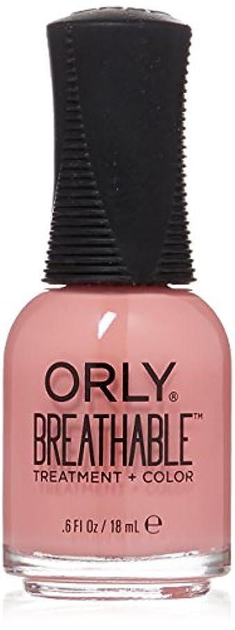サーフィン仕出しますボイドOrly Breathable Treatment + Color Nail Lacquer - Happy & Healthy - 0.6oz/18ml
