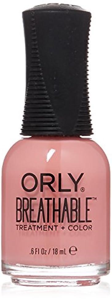 歯車付添人監査Orly Breathable Treatment + Color Nail Lacquer - Happy & Healthy - 0.6oz/18ml