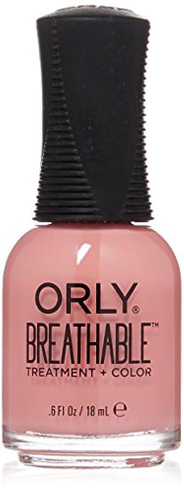 かる材料経済Orly Breathable Treatment + Color Nail Lacquer - Happy & Healthy - 0.6oz/18ml