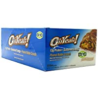 Oh Yeah! Protein Bar Peanut Butter Crunch 1.59oz bars, 12 count