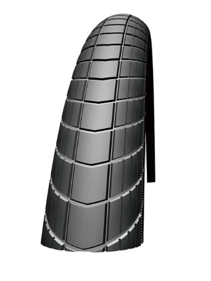 評判部農奴Schwalbe Big Apple Performance Line Lite Skin Race Guard Endurance Wired Tyre - Reflex Black, 20 x 2.15 Inch by Schwalbe