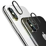 改善版 iPhoneX 専用 カメラフイルム iPhoneXフィルム レンズ保護リング 0.1mm 強化ガラス 指紋防止 高硬度9H 自動吸着 99%高透過率 耐衝撃 飛散防止 日本製旭硝子素材 カメラ液晶保護フィルム( iPhoneXに対応)