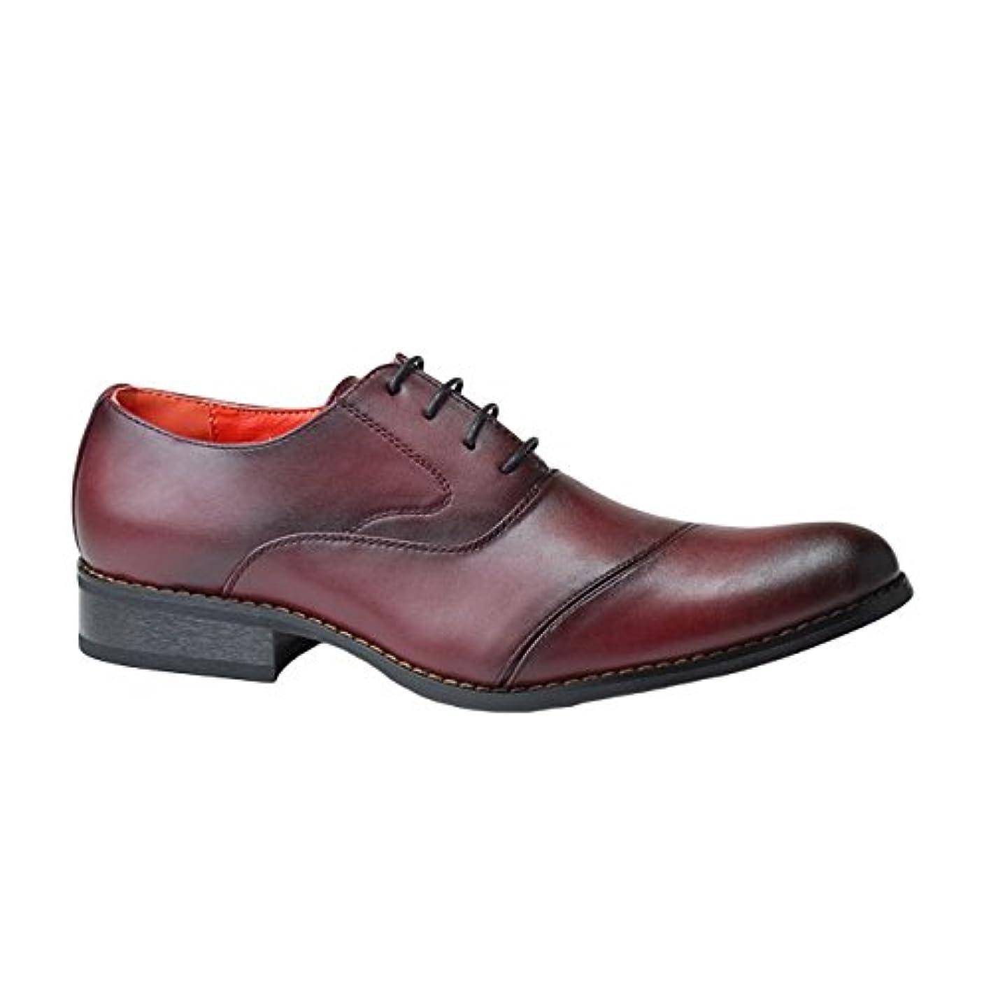 オークション難民アニメーション[アルフレッドギャレリア] ALFRED GALLERIA ビジネスシューズ AG911 メンズ 内羽根 ストレートチップ 紳士靴