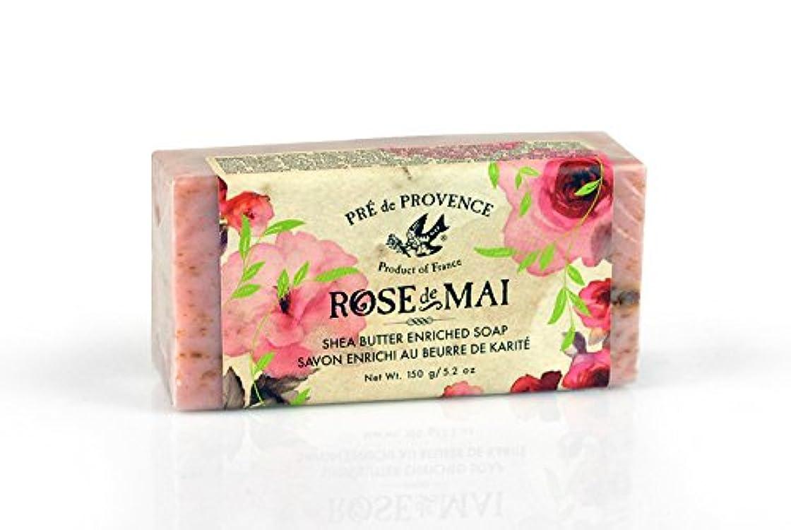 大人レタッチそっとPRE de PROVENCE ローズ ドゥ メ シアバターソープ ローズ ROSE プレ ドゥ プロヴァンス Rose de Mai Shea Butter Soap
