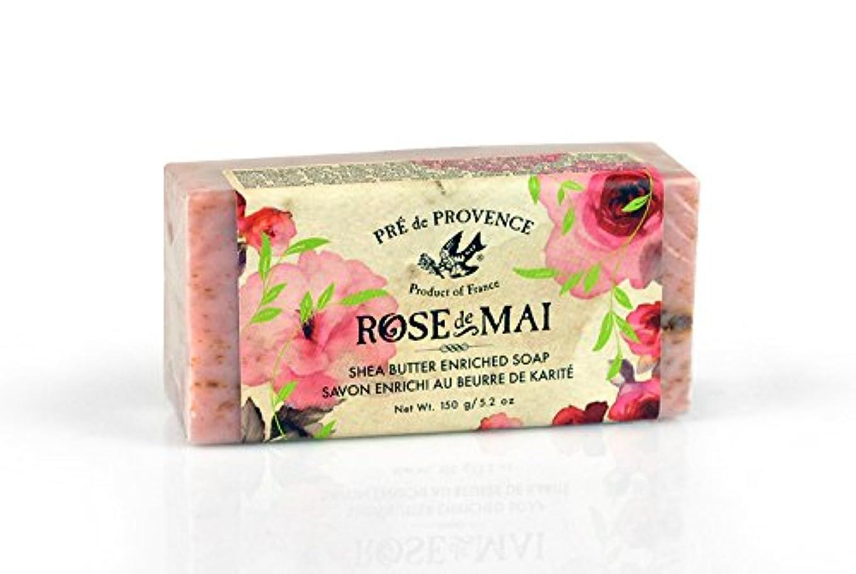 荒野リファイン直面するPRE de PROVENCE ローズ ドゥ メ シアバターソープ ローズ ROSE プレ ドゥ プロヴァンス Rose de Mai Shea Butter Soap