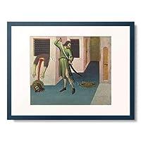 Sano di Pietro,1406-1481 「The Beheading of St. John the Baptist.」 額装アート作品