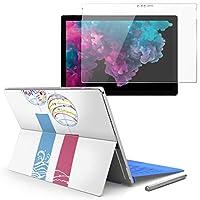 Surface pro6 pro2017 pro4 専用スキンシール ガラスフィルム セット 液晶保護 フィルム ステッカー アクセサリー 保護 夏 風鈴 013806