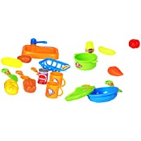 Lovoski  22個 子供 カトラリー プレイ セット キッチン  現実的 アクション ロールプレイ おもちゃ